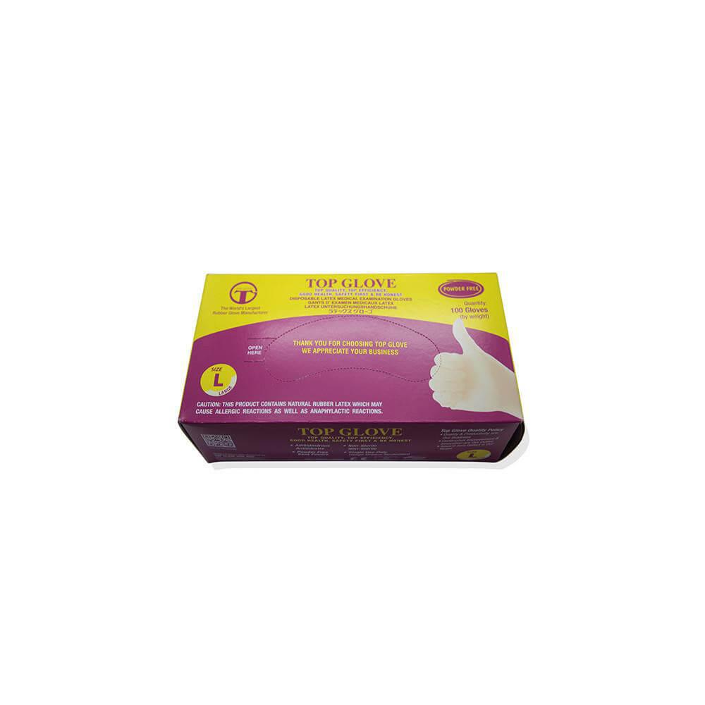 Standard Powder Free Latex Gloves Stoents Industrial
